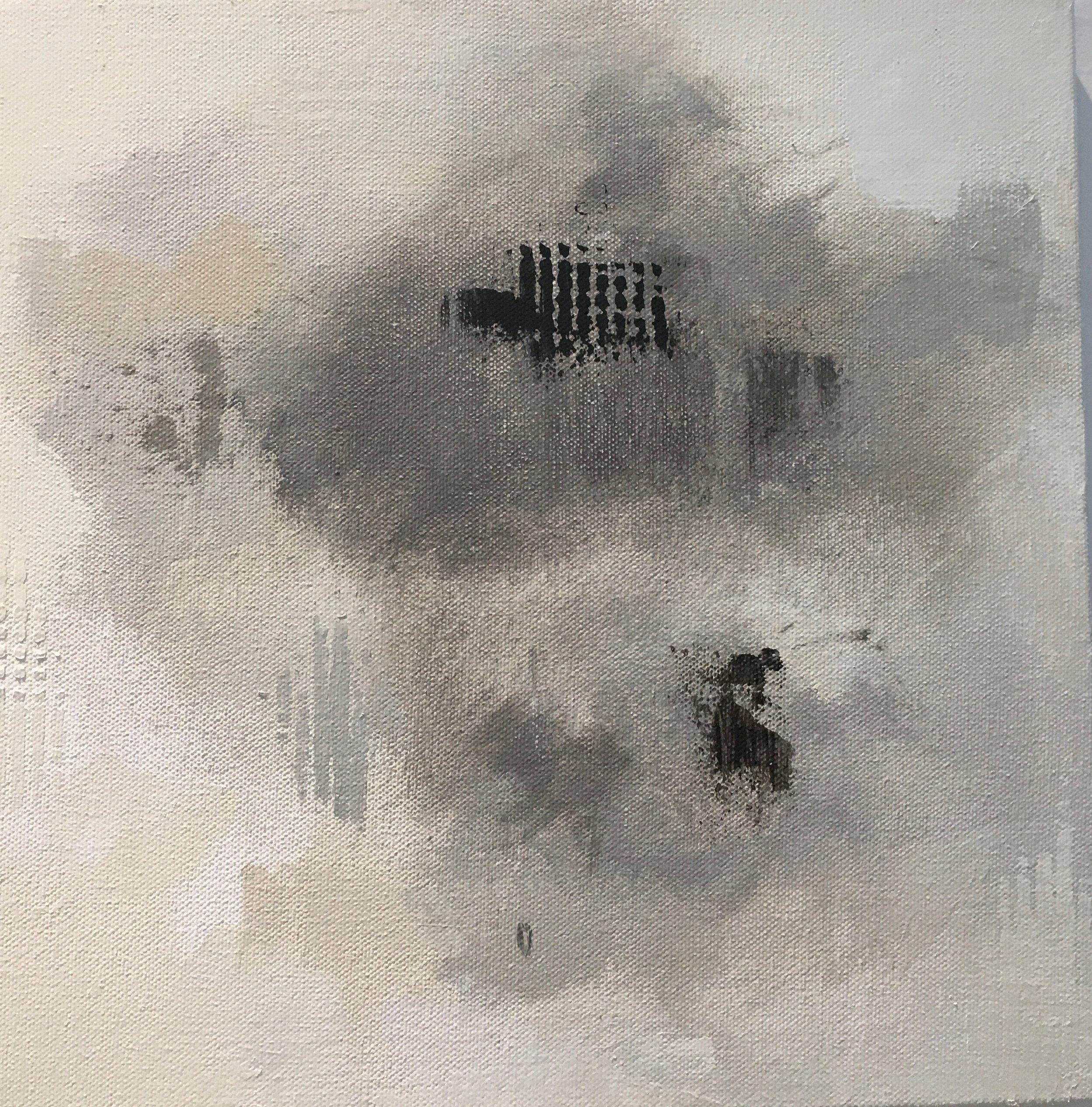 """A little grid, 12"""" square, 2016"""