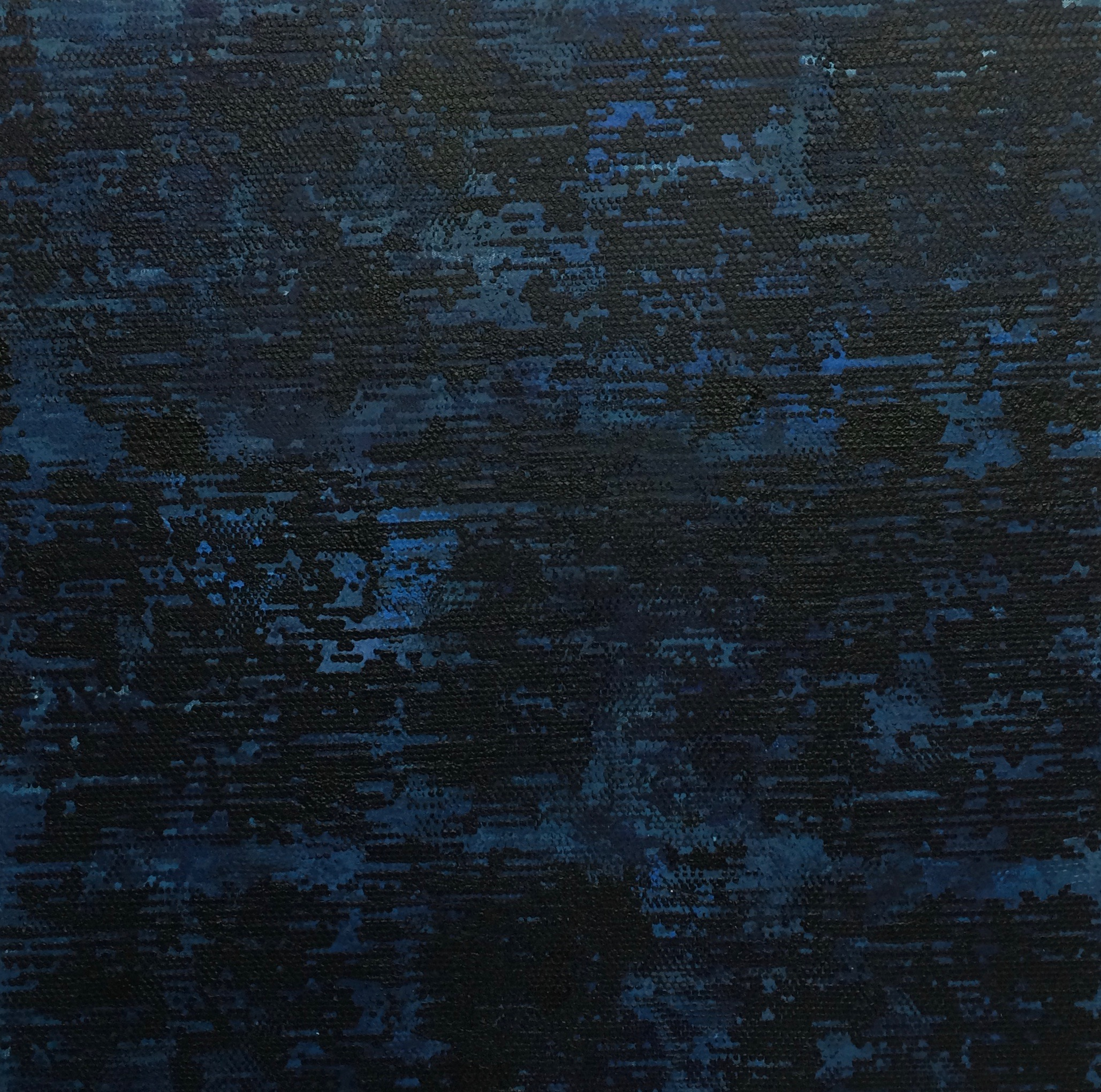 26. Manheimer_ Dark Blue Dot Matrix, 2014, 30%22 x 30%22, acrylic on canvas.jpg