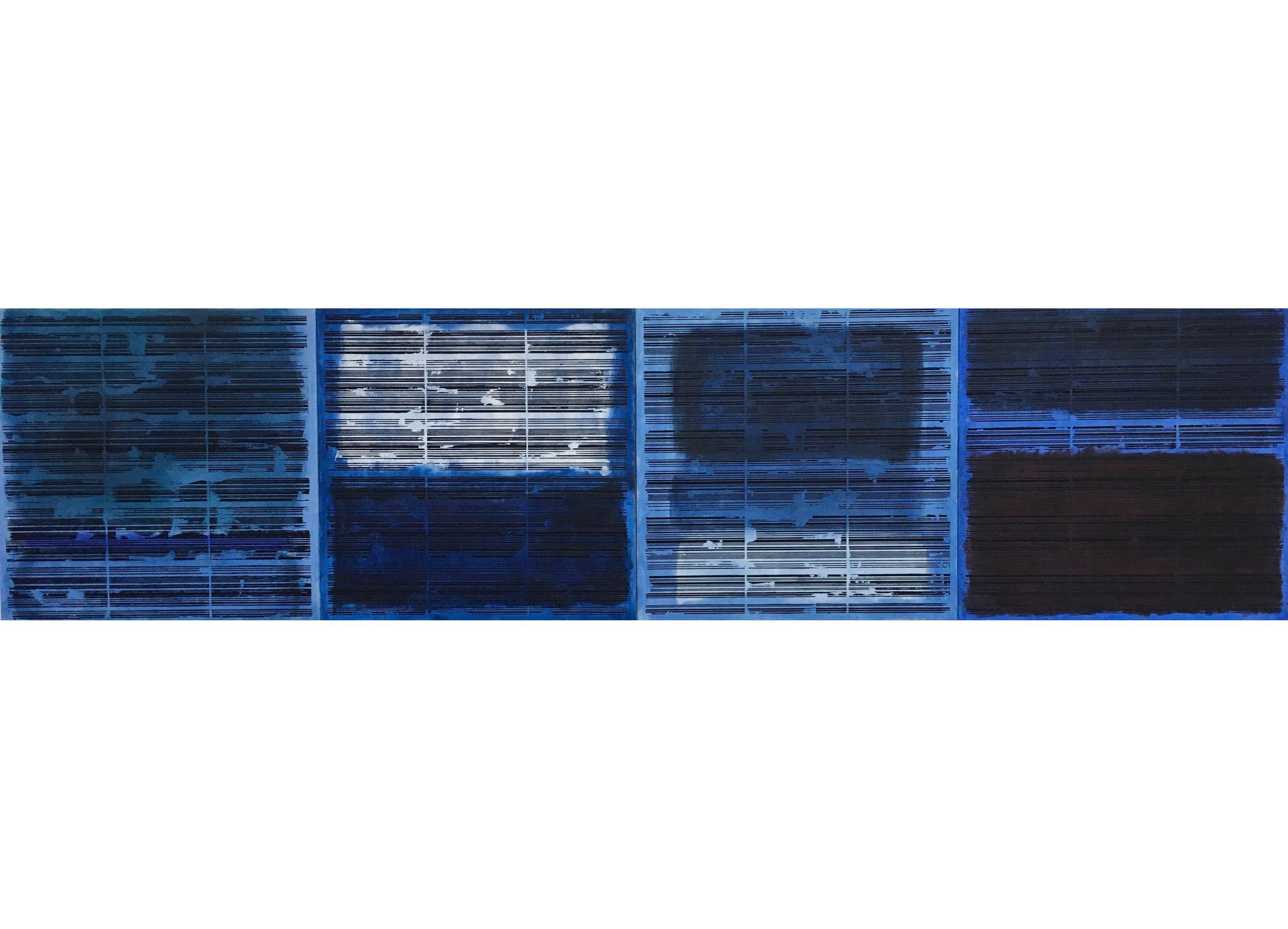 4.Manheimer_Rothko Bar Codes, 2016, 4 panels 24%22x 24%22 each, total dimension 24%22 x 96, acrylic on canvas.jpeg