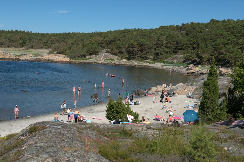 Storesand er blant Oslofjordens mest attraktive bade- og rekreasjonsområder. Foto: Oslofjordens Friluftsråd