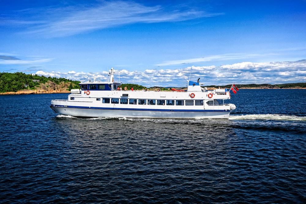 Dette er båten vi reiser med på Hvaler og i den svenske skjærgården.