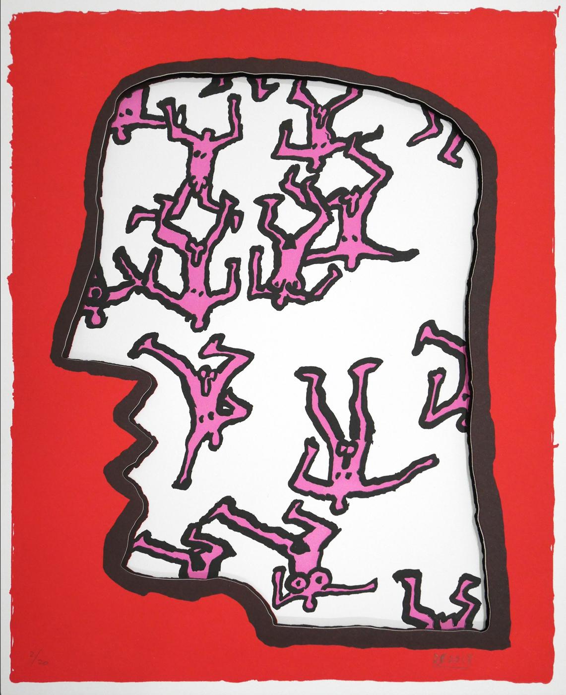 """""""Head"""" by Derek Boshier"""