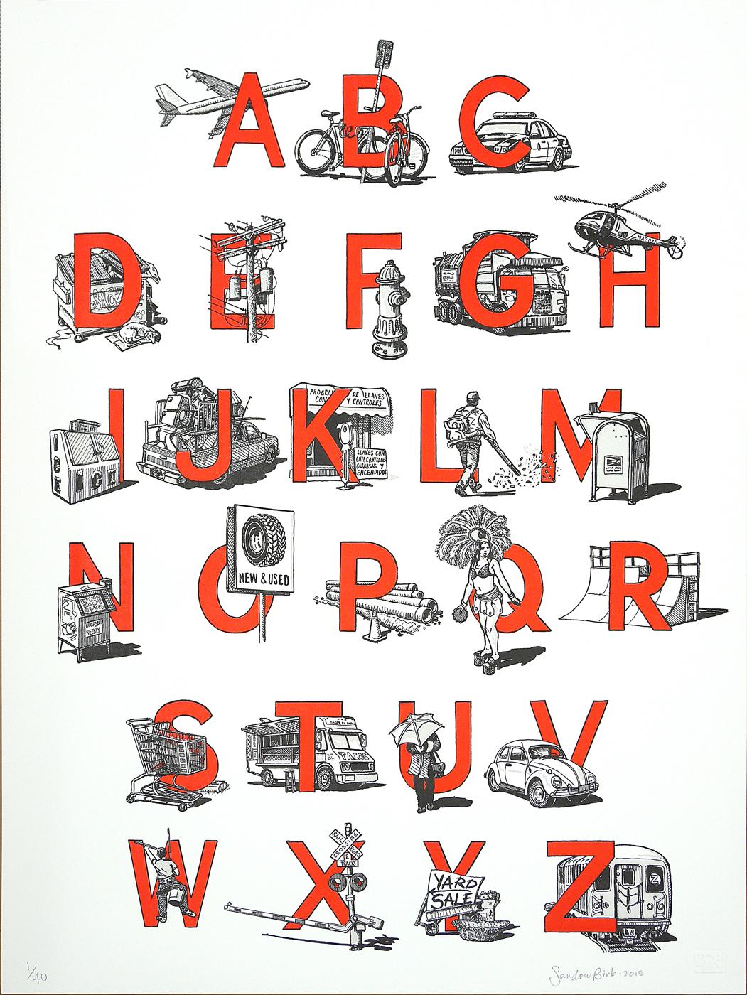 """""""Urban Alphabet"""" by Sandow Birk"""