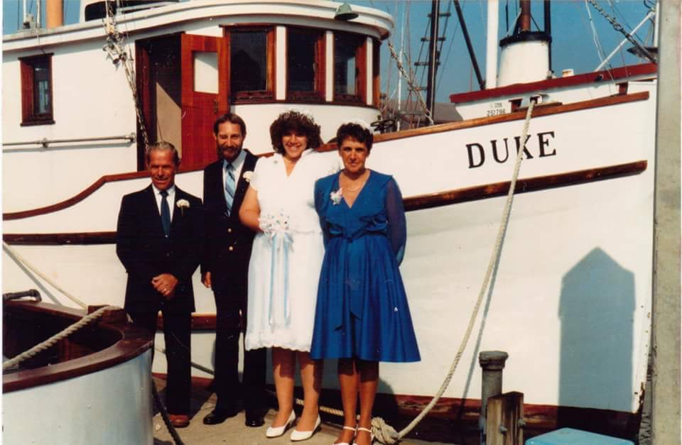George's daughter was married on the boat