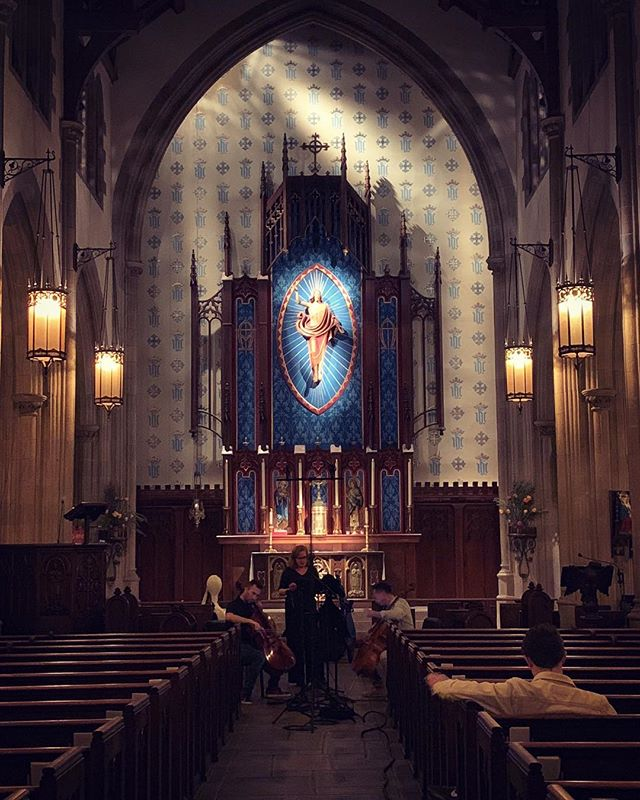 Late night recording in this beautiful Hollywood church! #audiorecording #classicalmusic #hollywood