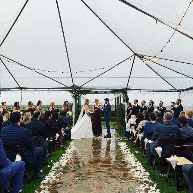 We'll film your wedding rain or shine! . . . Videography:@lensonproductions #lensonweddings #lensonproductions #radiantbride  #lawedding #californiawedding  #californialove #wedding #weddingvideo #weddingideas #rooftopwedding #losangeleswedding #weddingfilm #theknot #weddingcinema #weddinginspo #weddingvideography #realweddings #temecula #temeculawinecountry #temeculaweddings