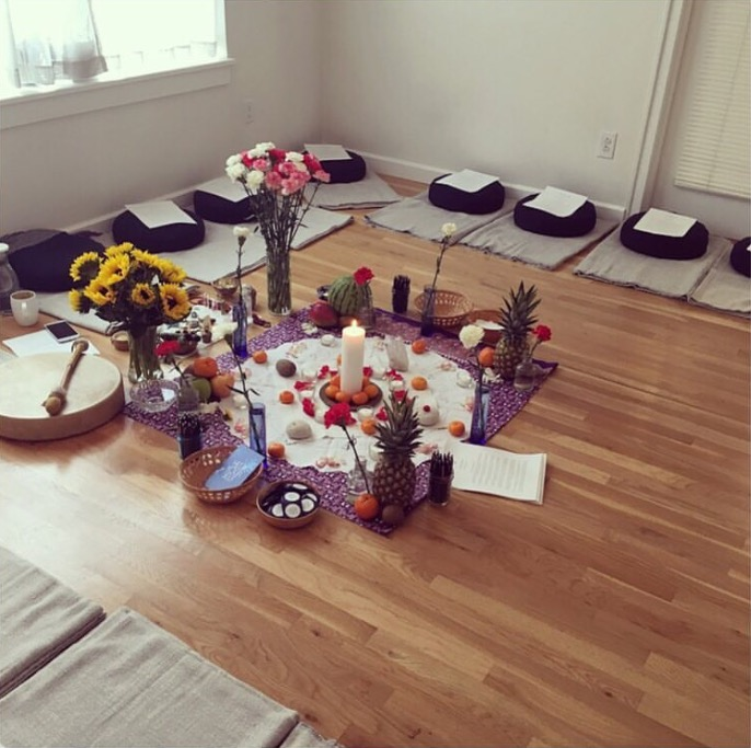 The Help Your Self closing ceremony - location of my first shamanic journey.