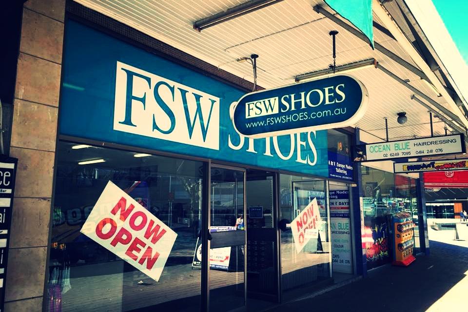 FSW Shoes Shop signage Goulburn