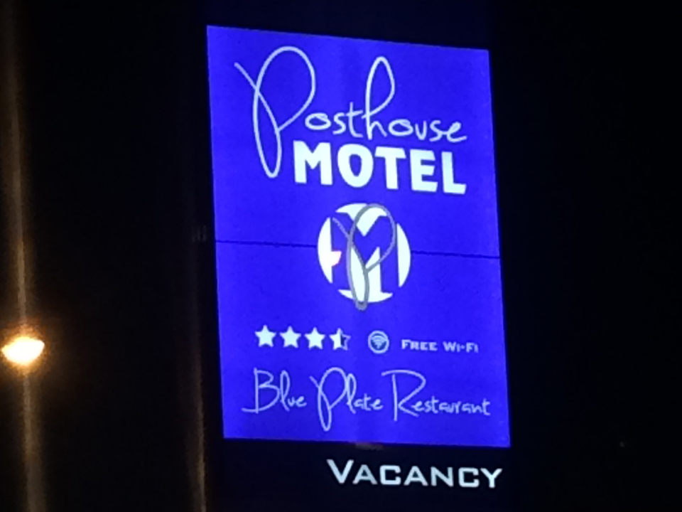 Post House Motel Pylon Signage Goulburn
