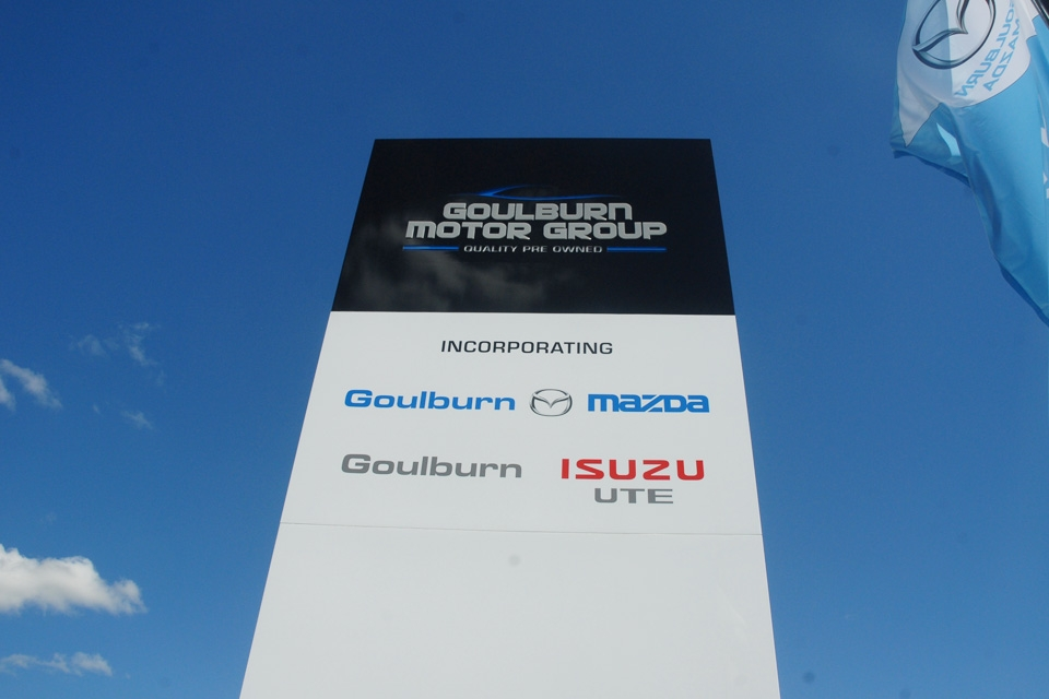 Mazda Dealership Goulburn Pylon