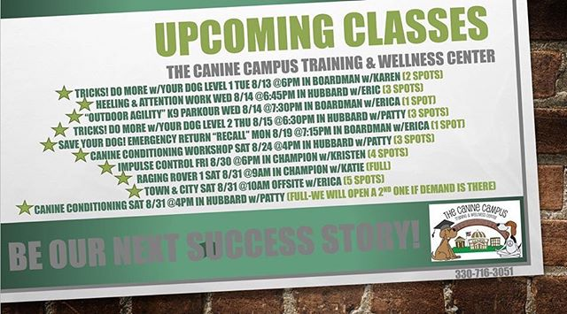 Upcoming classes