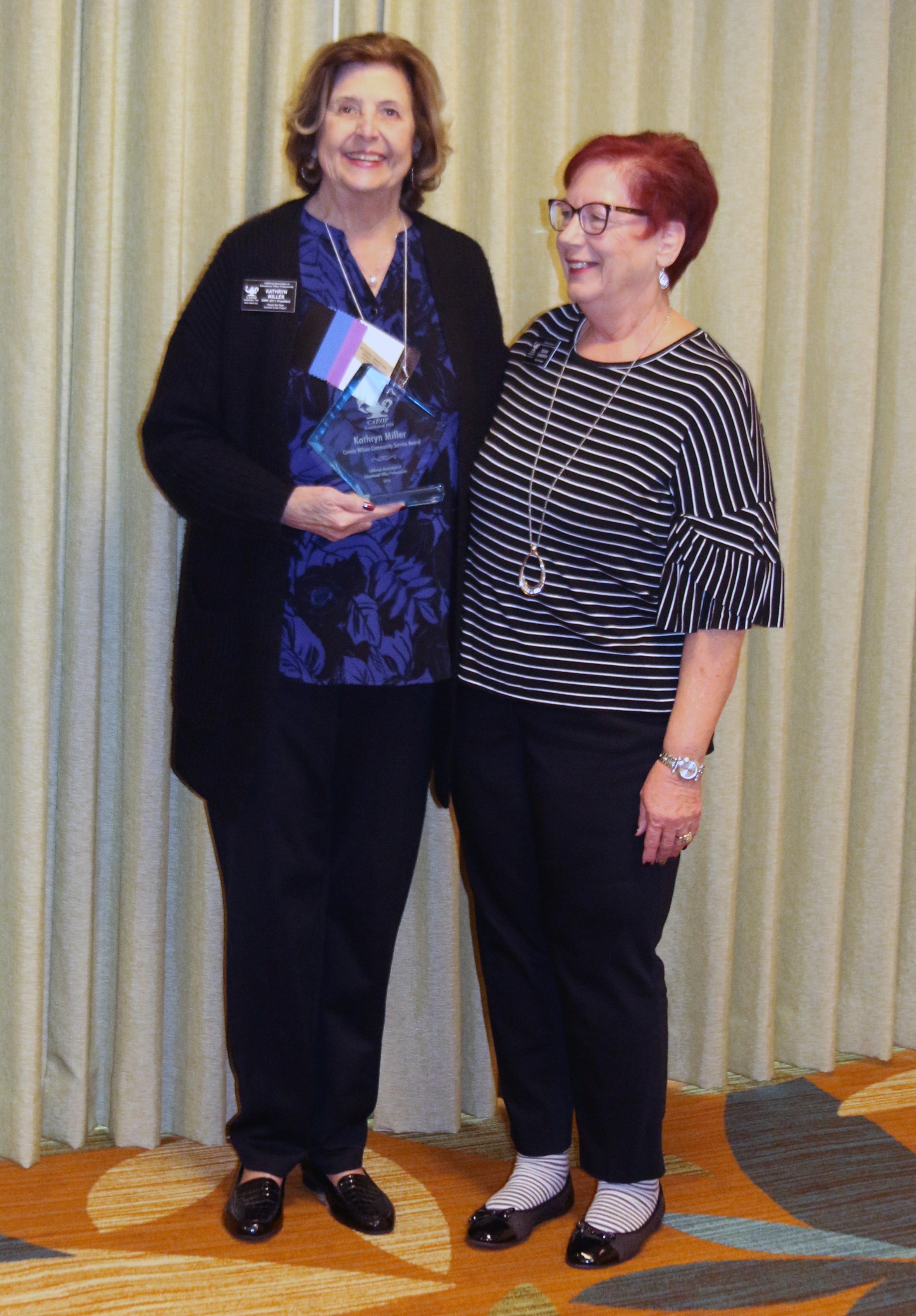 Kathryn Miller, CEOE was awarded the 2019 Connie Wilson Community Service Award