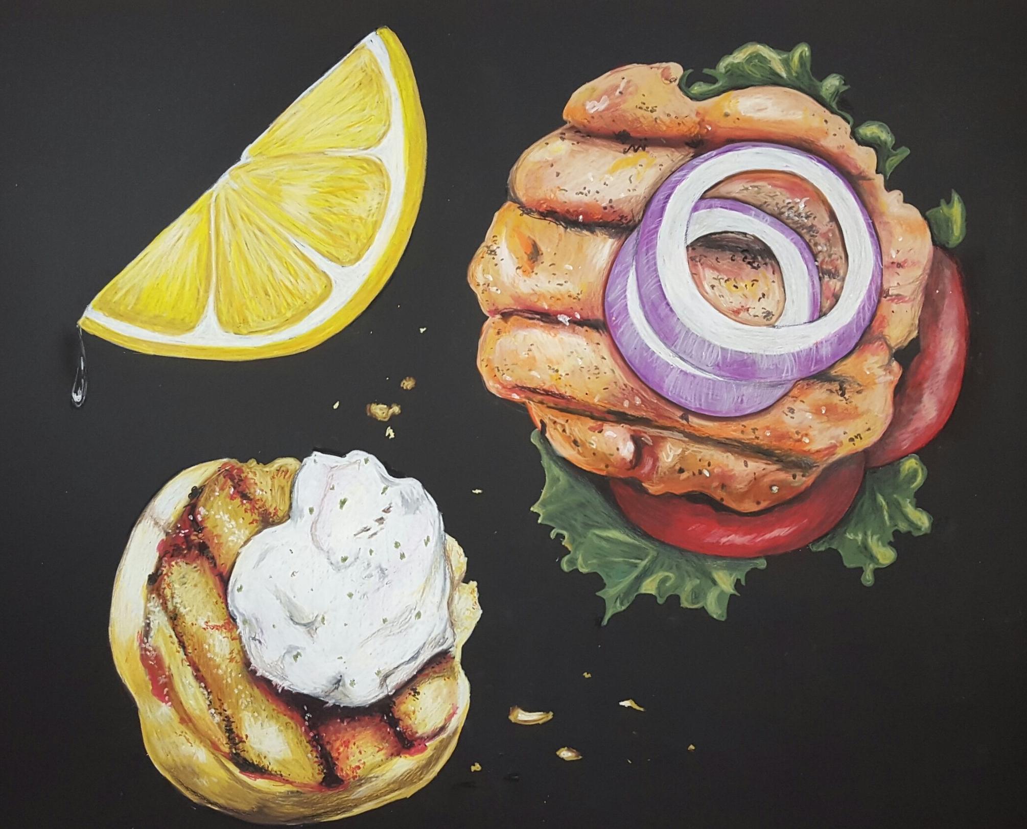 Neocolor ii Salmon Burger