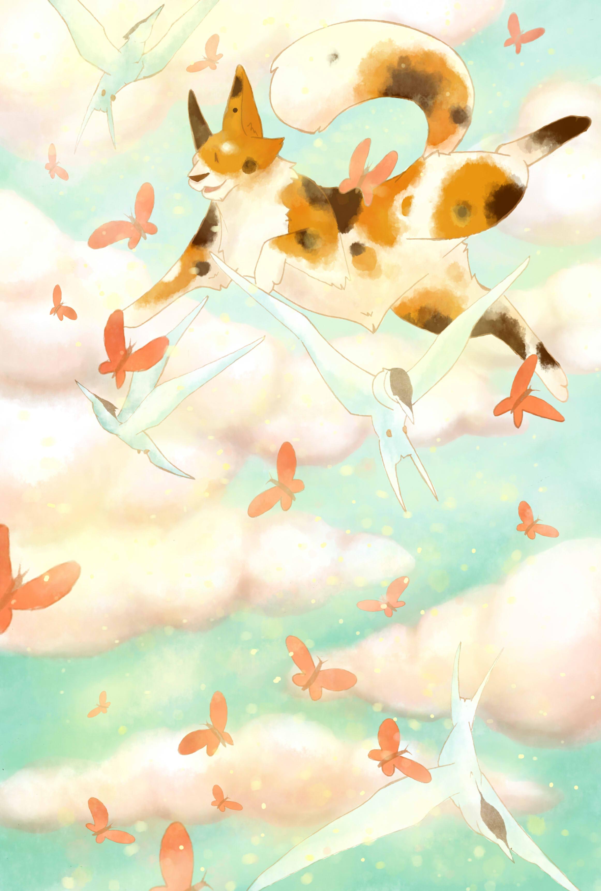 Nini's adventure. digital illustration.