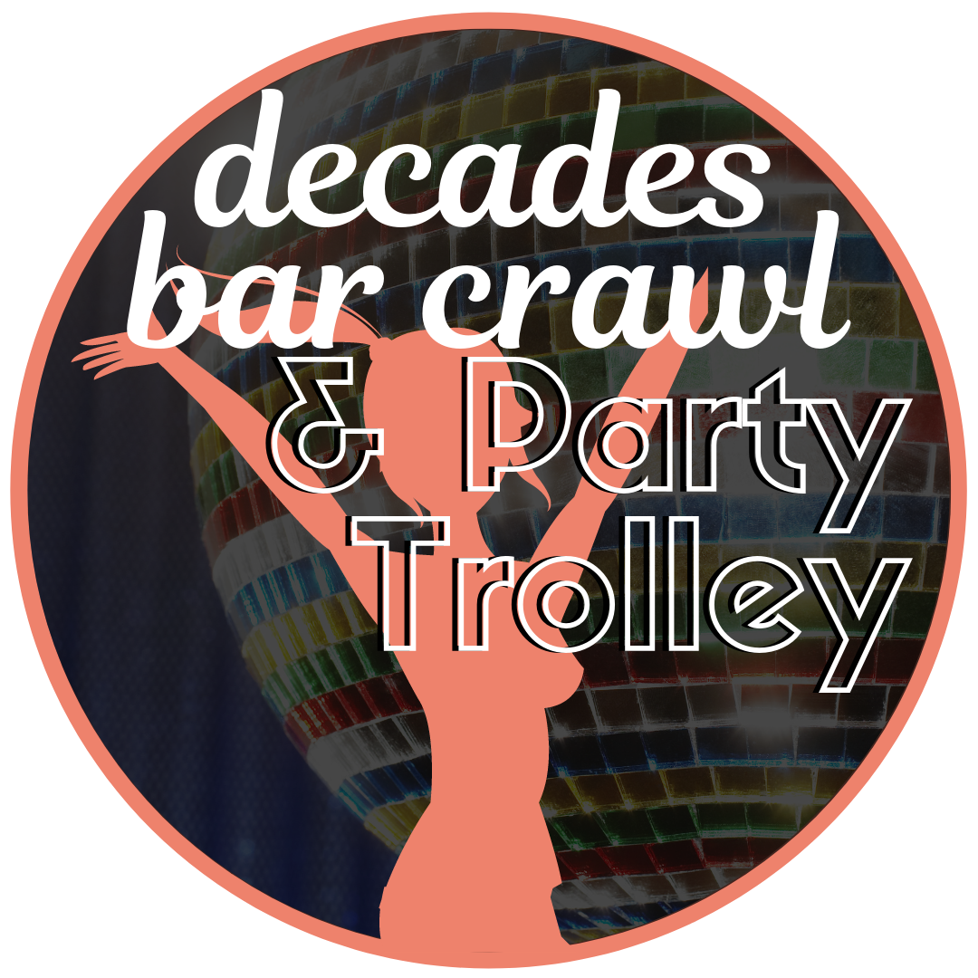 April 26th : 8-11pm - Come dressed in your favorite decade and crawl not just from bar to bar, but from decade to decade! The party doesn't stop once you've hit the street. The Lighted Party Trolley will be making stops at all your favorite bars from Broadway to Main Street from 8-11pm.Passes are available for pickup and purchase at the Great Girlfriend Headquarters from Friday 4/26 10am-7pm at Java Jive.