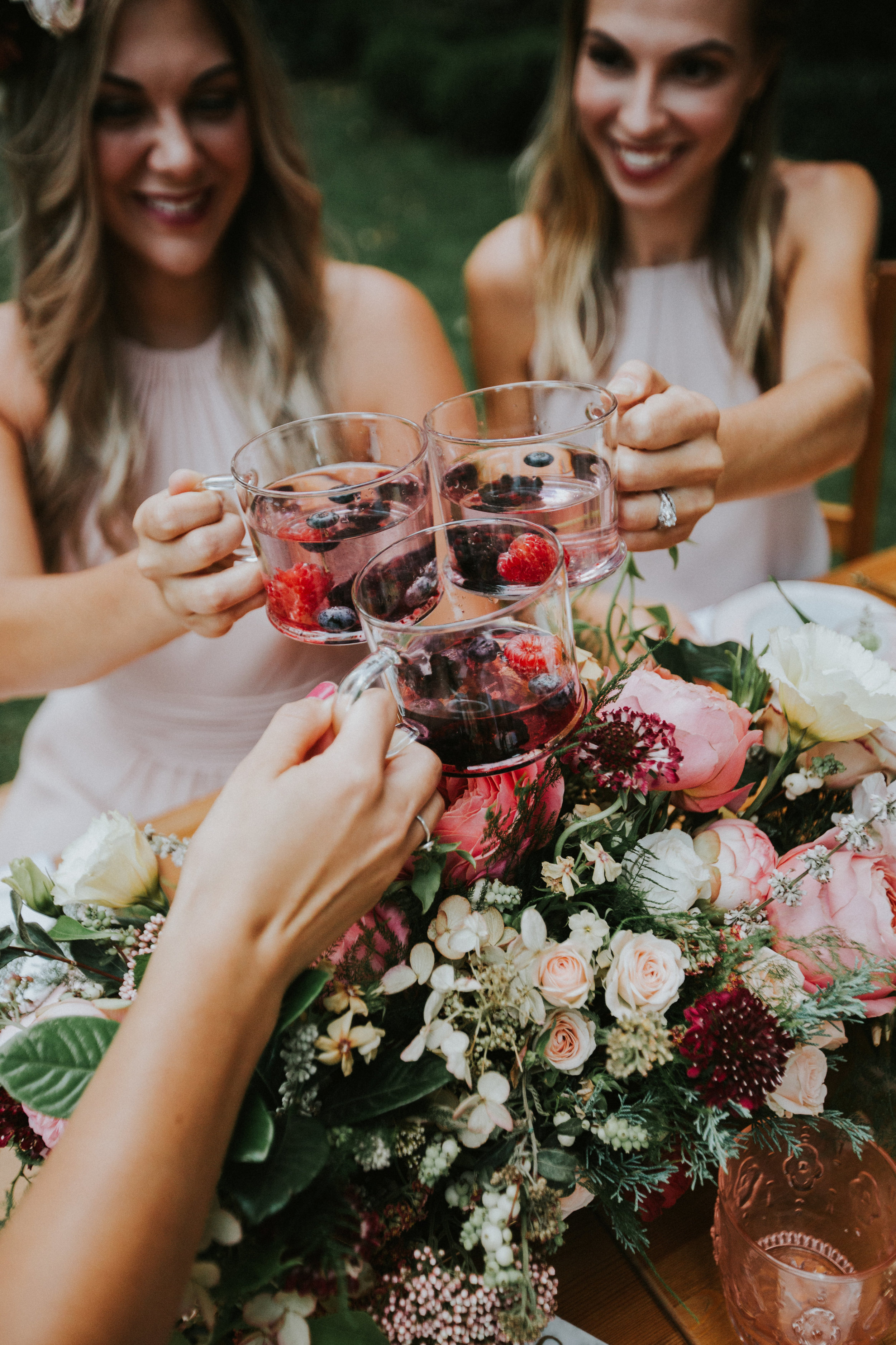 bridesmaids tea party- styling by Ashley Spence