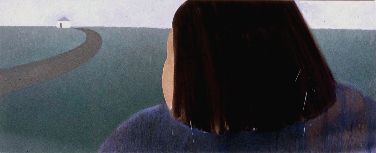 """Olga's World, 1984, 48"""" x 120"""", Oil on canvas"""