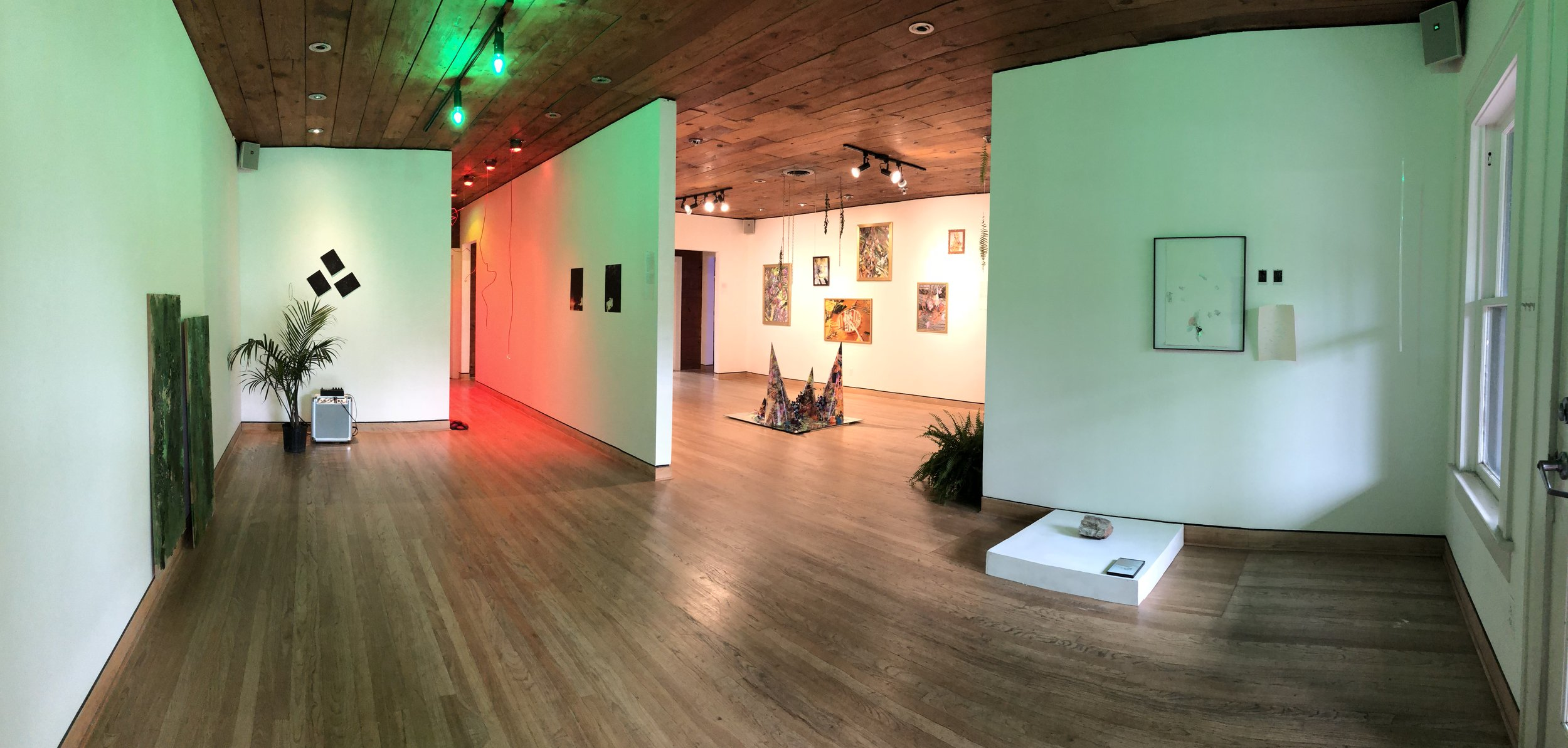 Installation photo from the exhibition  Relief,  2018, Hosted by Flatland Gallery, Featuring the work of Hallie Gluk and Andi Valentine