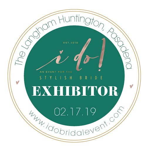 Look for the #idobridalevent EXHIBITOR badge popping up all over social media to see which one of your favorite wedding experts will be at the show!