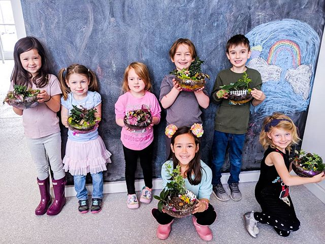 Check out these amazing junior botanists and fairy garden artists! Thanks for joining us this morning!