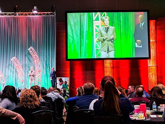 """Had the privilege of hearing astronaut Dr. Peggy Whitson speak at the Future Ready Iowa Summit today! A favorite quote: """"Strive to do a little bit more than you think you can. That's really where you find your successes in life."""" #futurereadyiowa"""