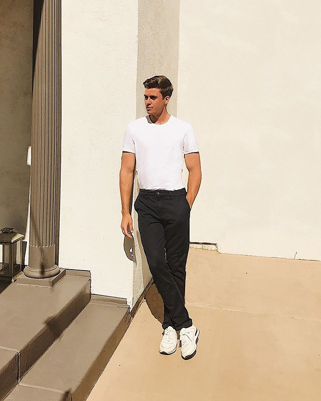 Hanging at home in the slim chino navy from @7forallmankind #7ForAllManKind #ad