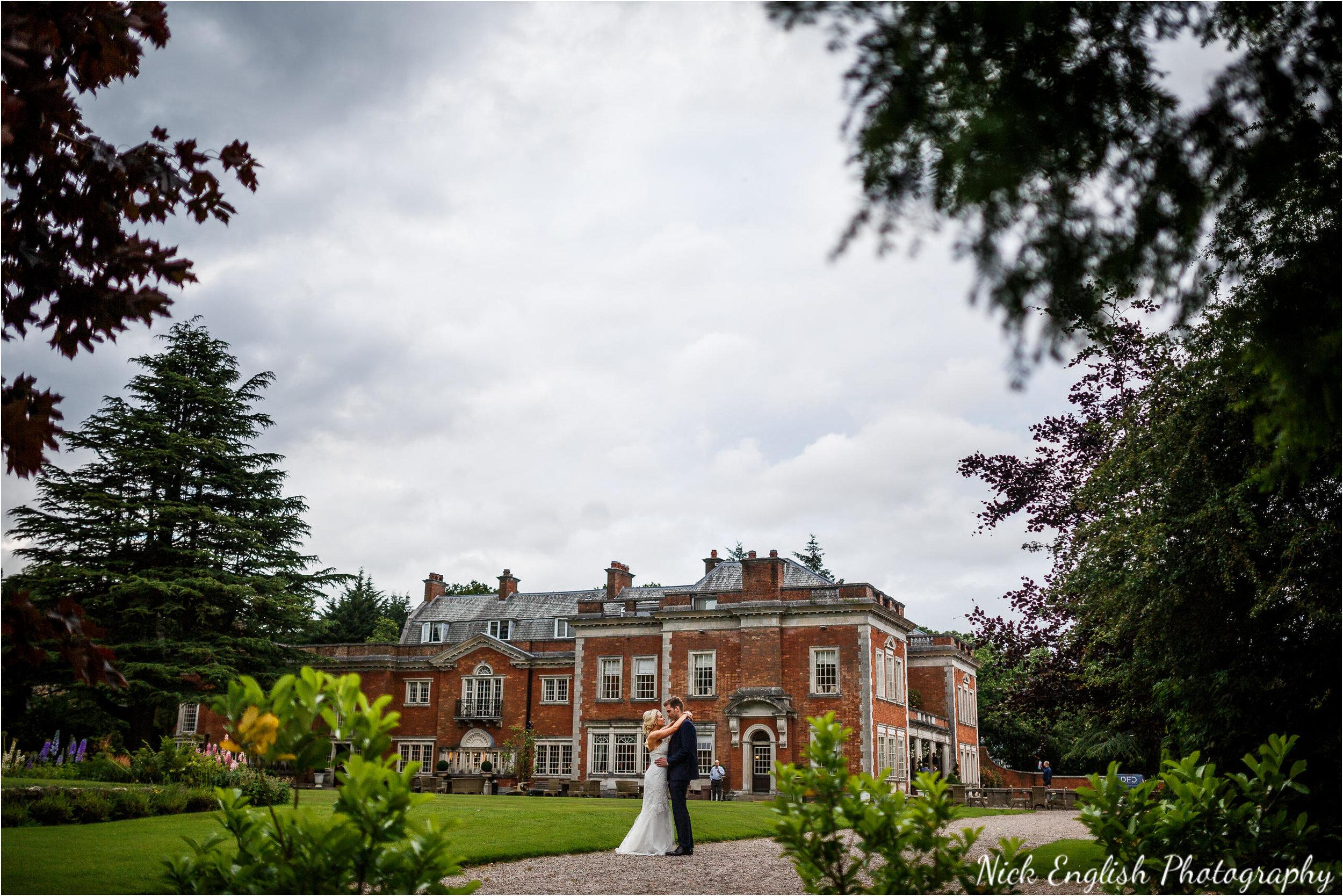 Bride and Groom Eaves Hall Wedding