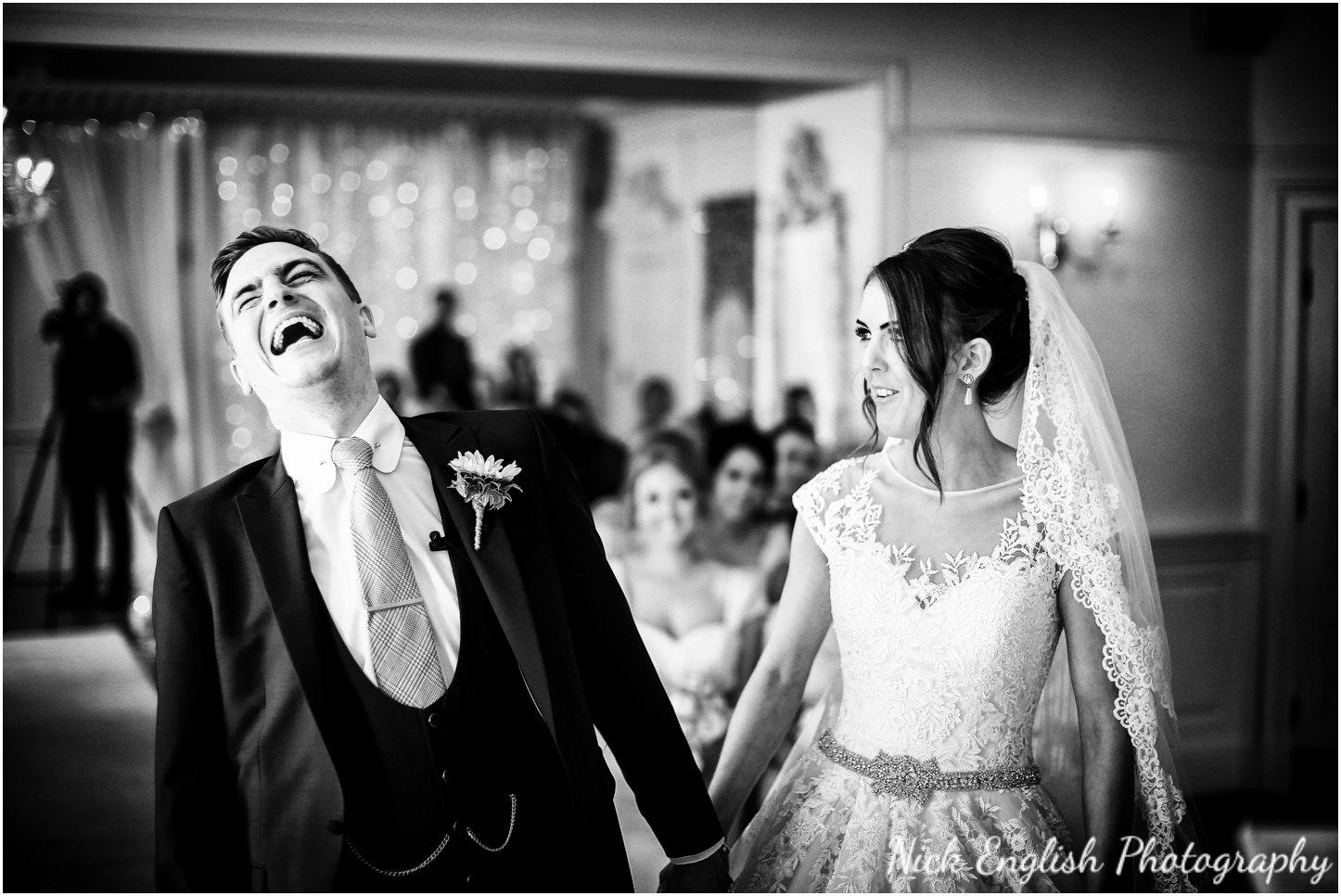 Wedding ceremony Eaves Hall