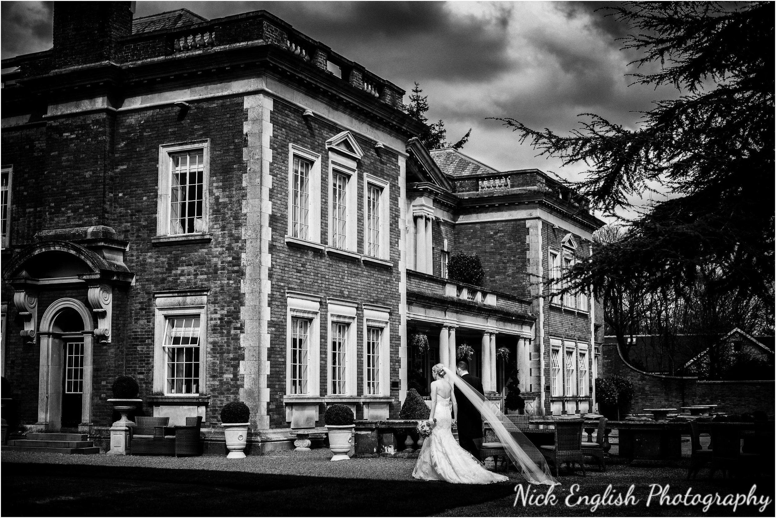 Bride long veil Eaves Hall