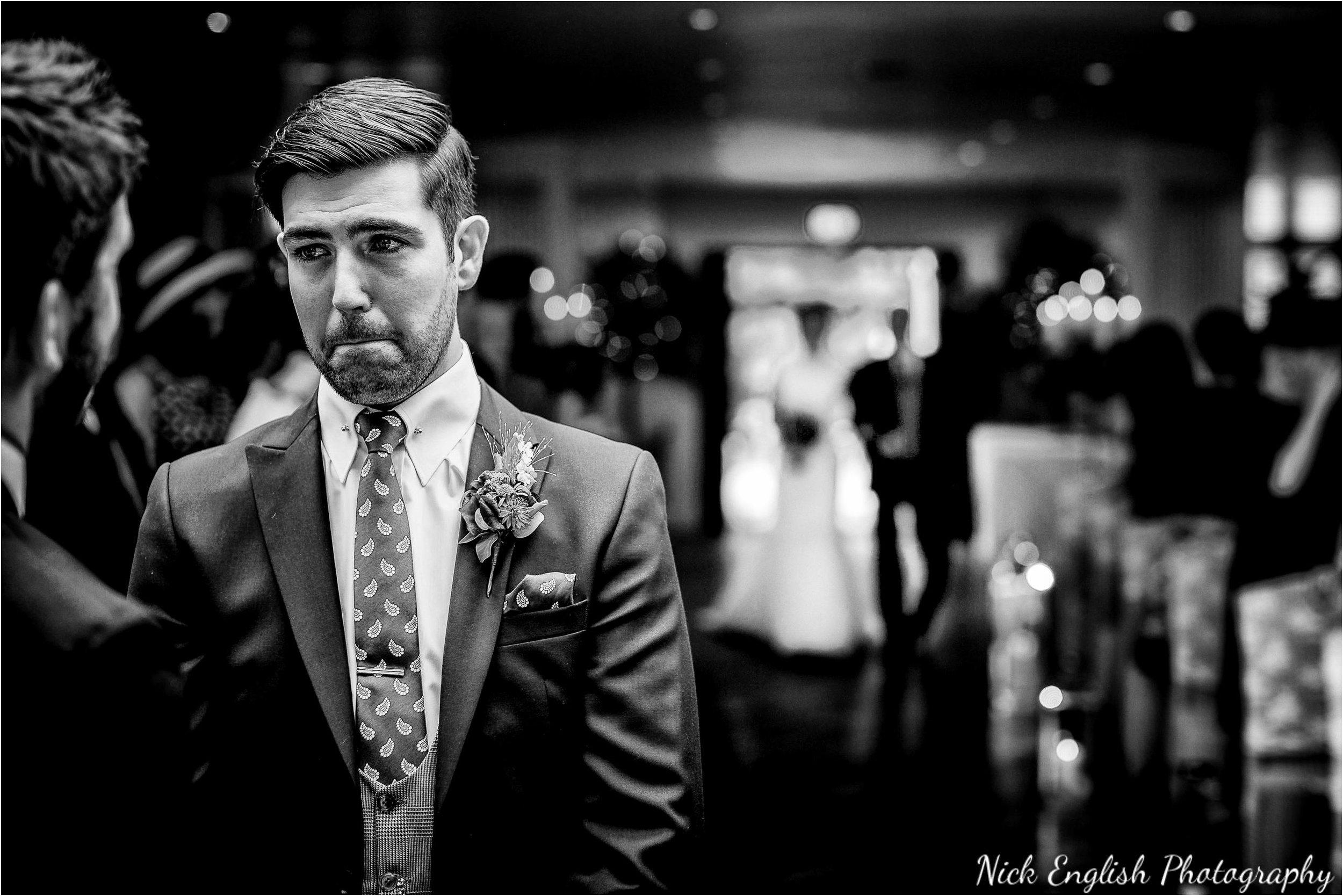 Mitton Hall Wedding Ceremony groom
