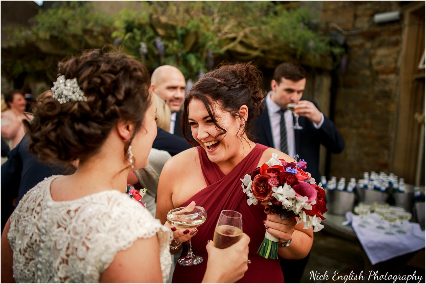 Mitton Hall wedding guests