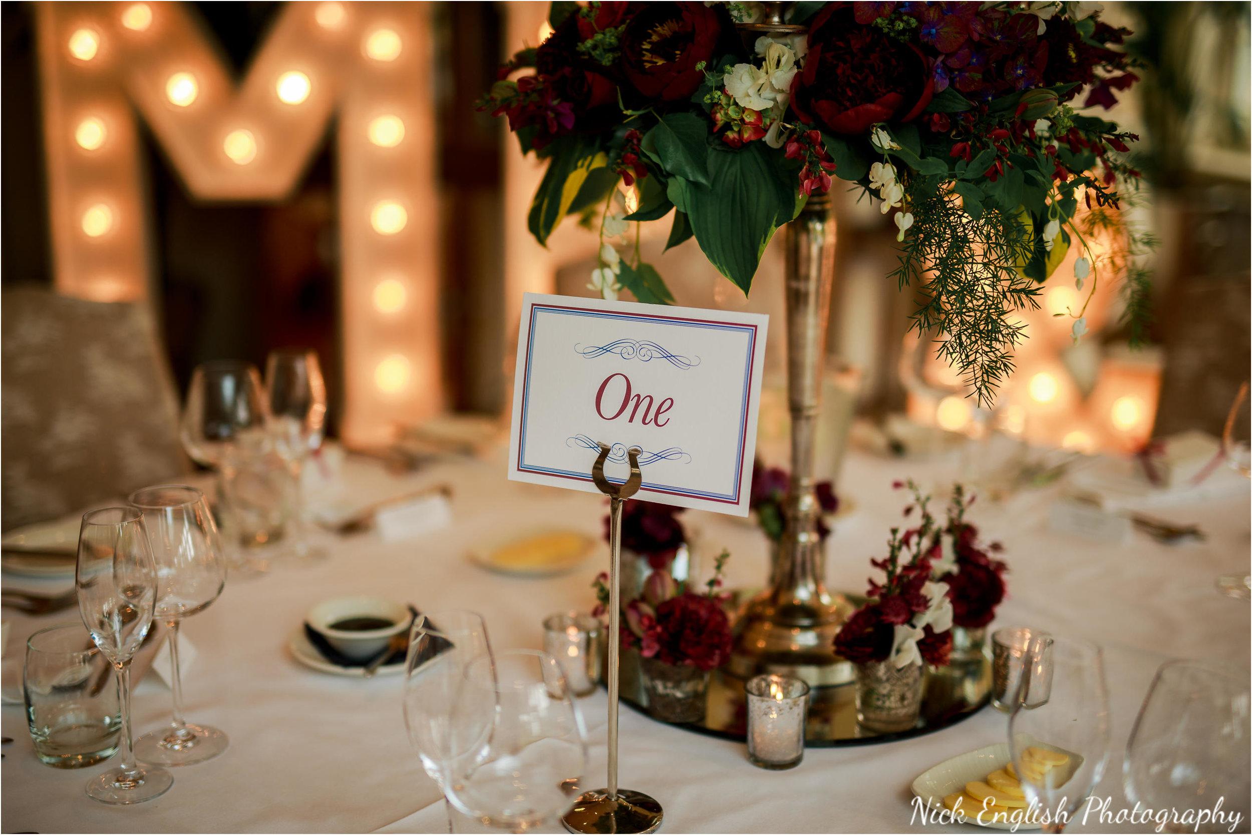 Wedding Breakfast Flowers Mitton Hall