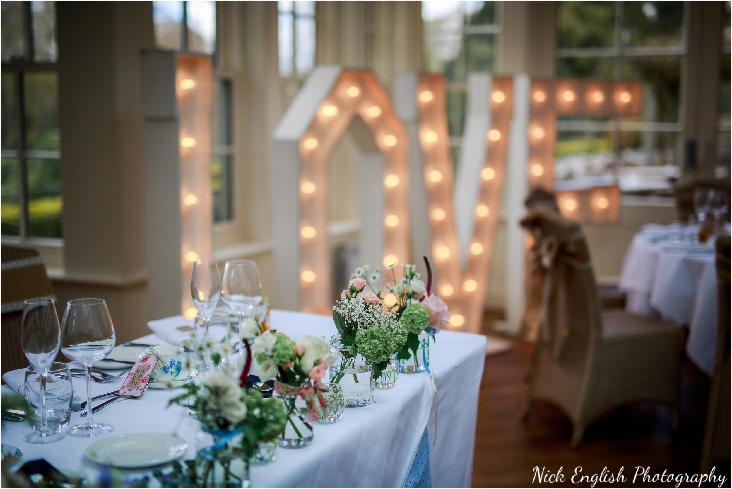 Mitton Hall Wedding Breakfast Room Layout LOVE Sign
