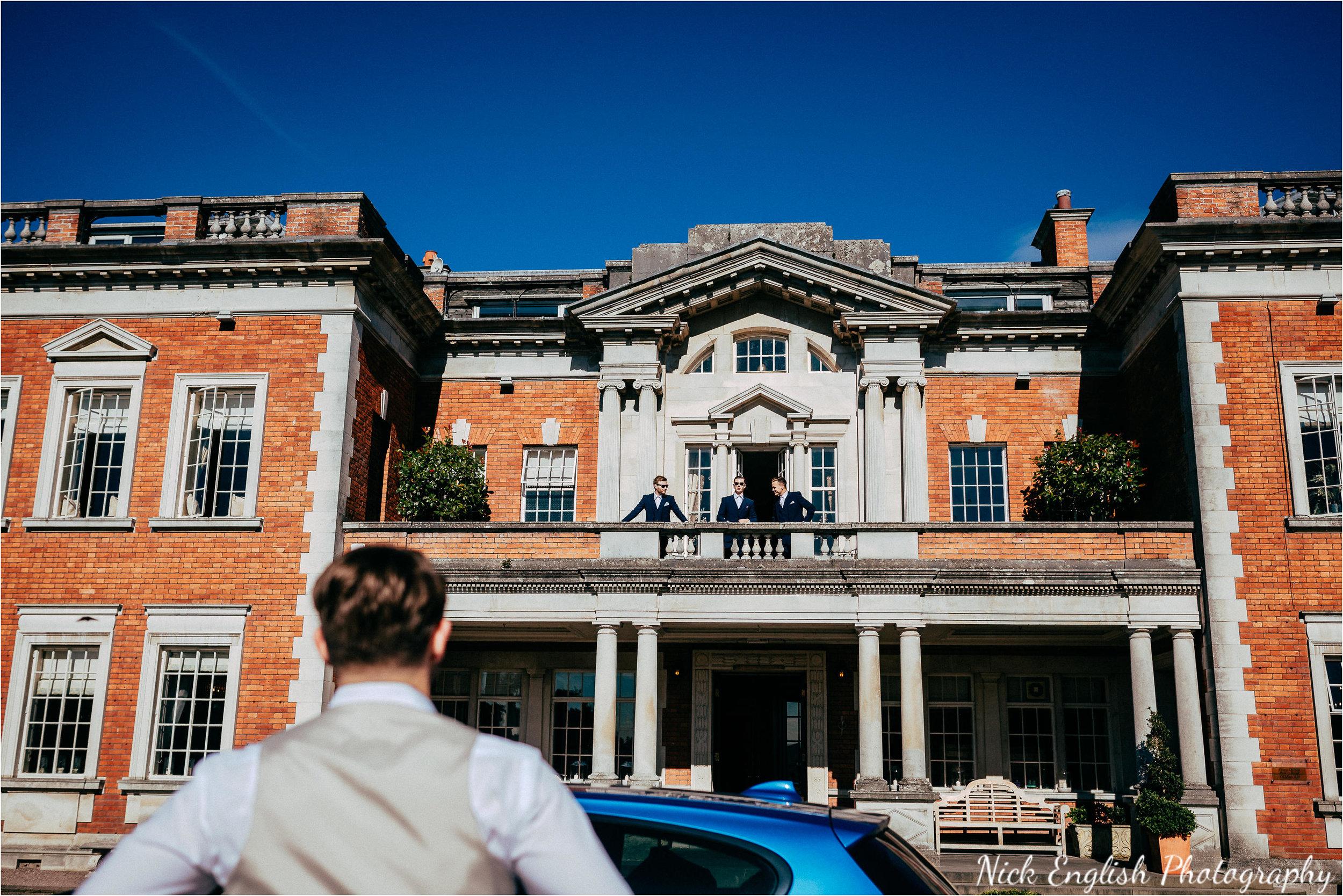 Eaves Hall Groom Wedding