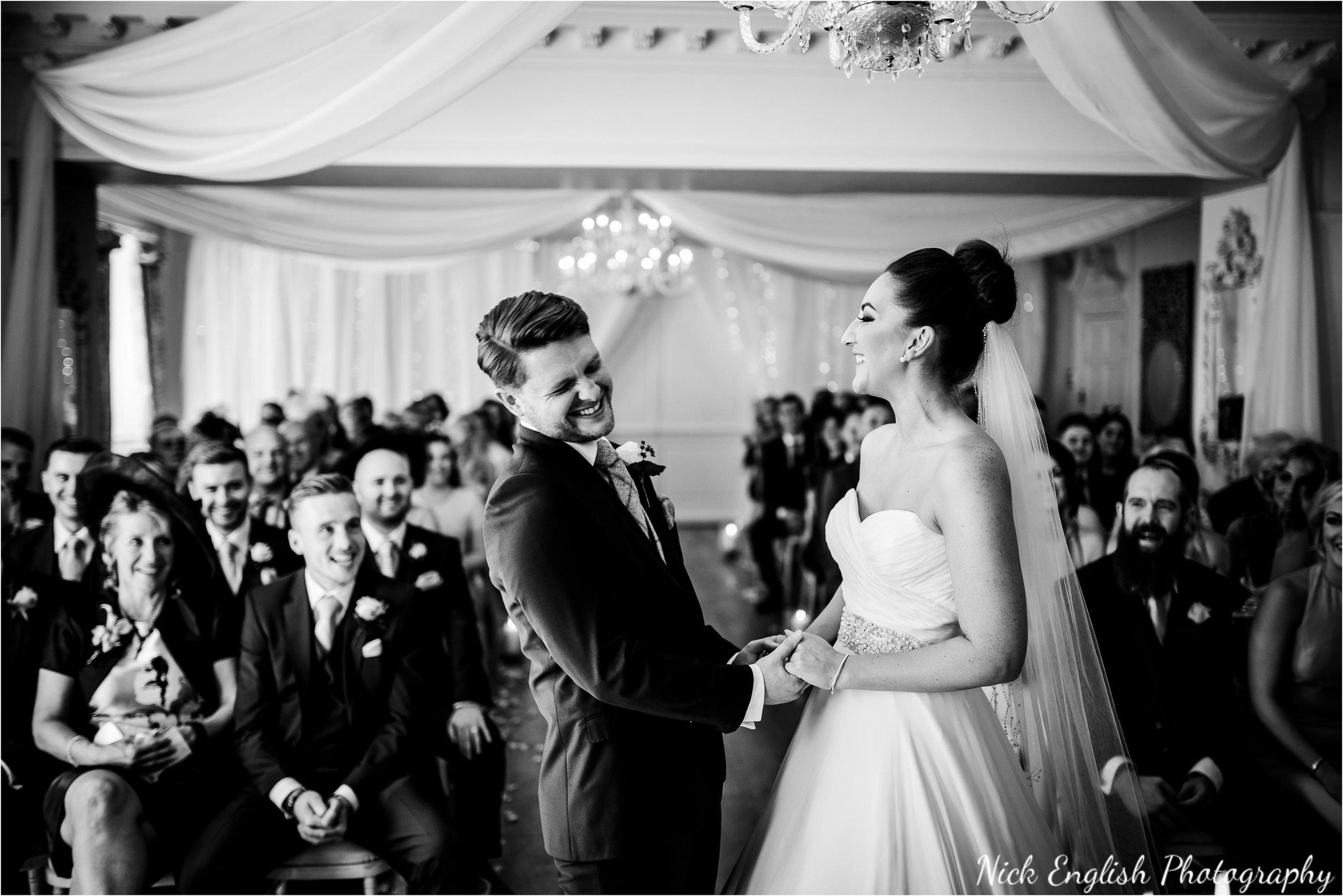 Eaves Hall wedding ceremony