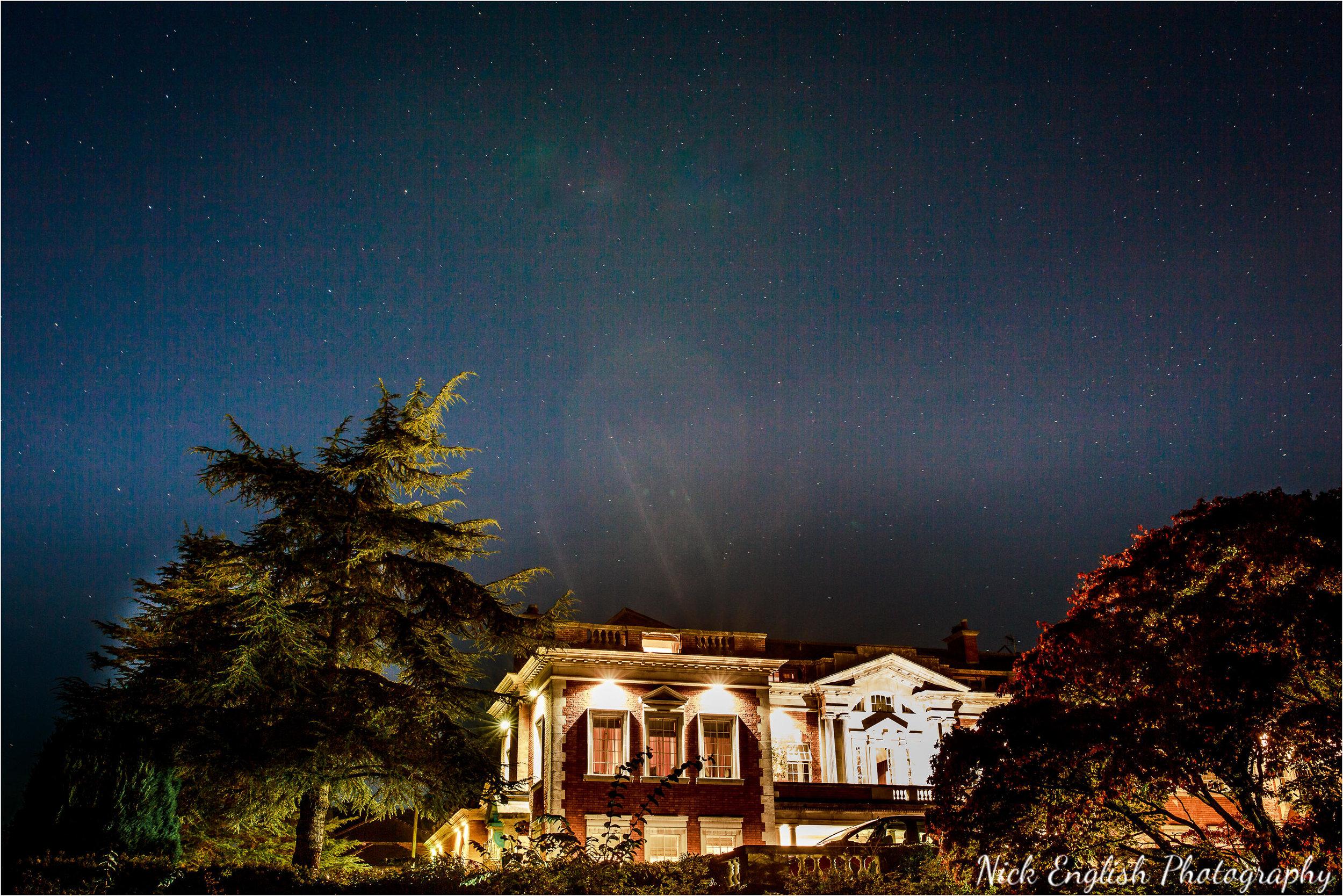 Eaves Hall Stars Sky Night Building Lit Up