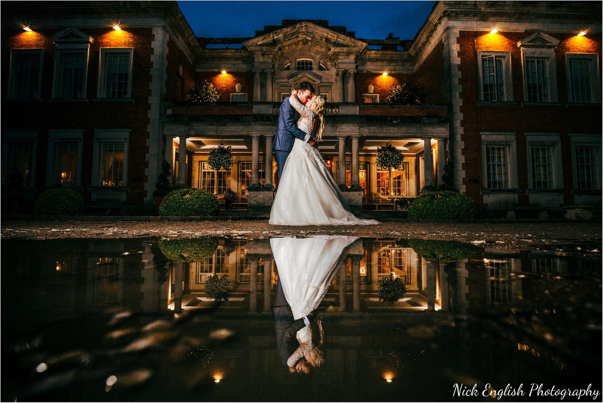 Eaves Hall Wedding Photographer Building Lit Up Night