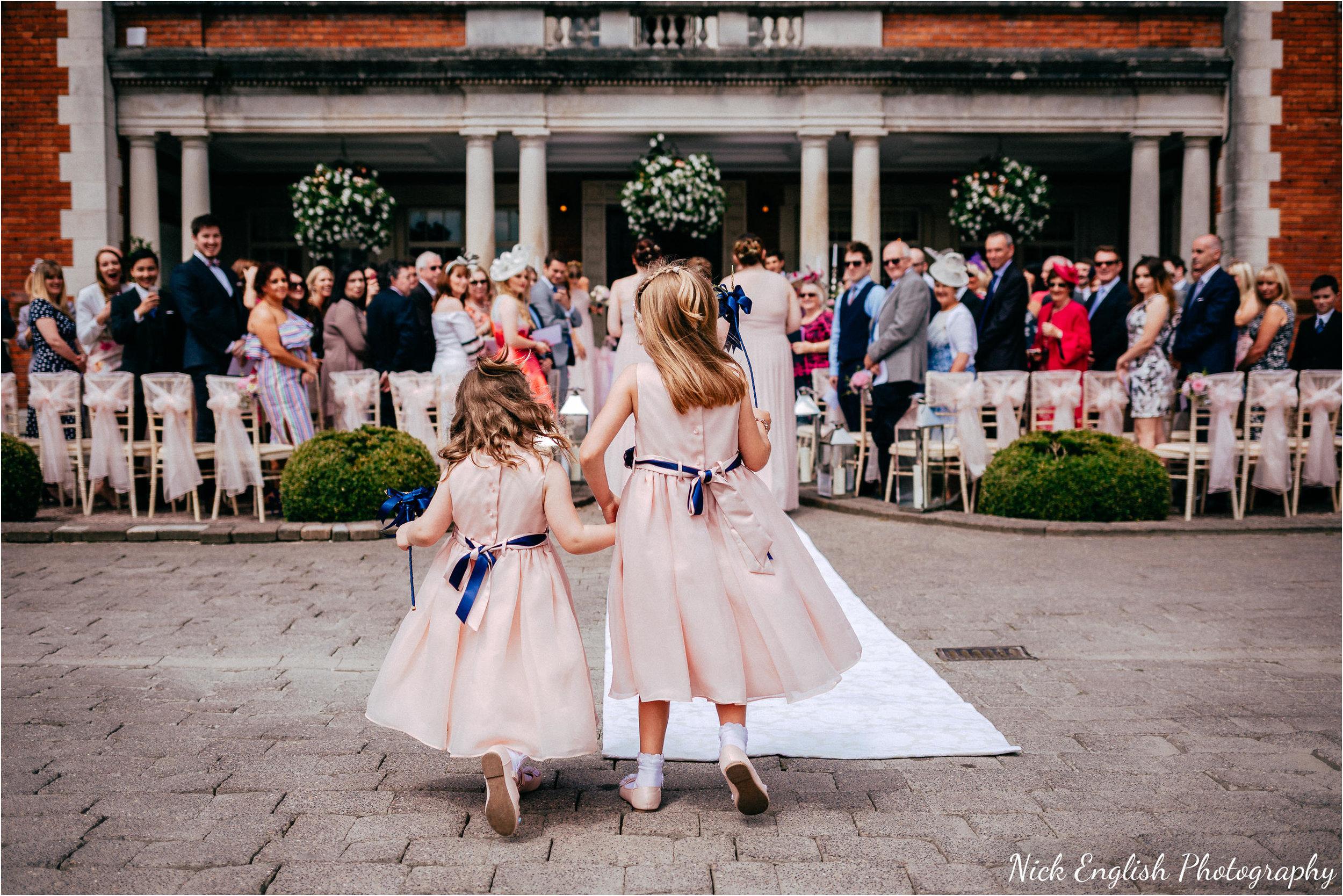 Flower Girls Eaves Hall Outdoor Wedding