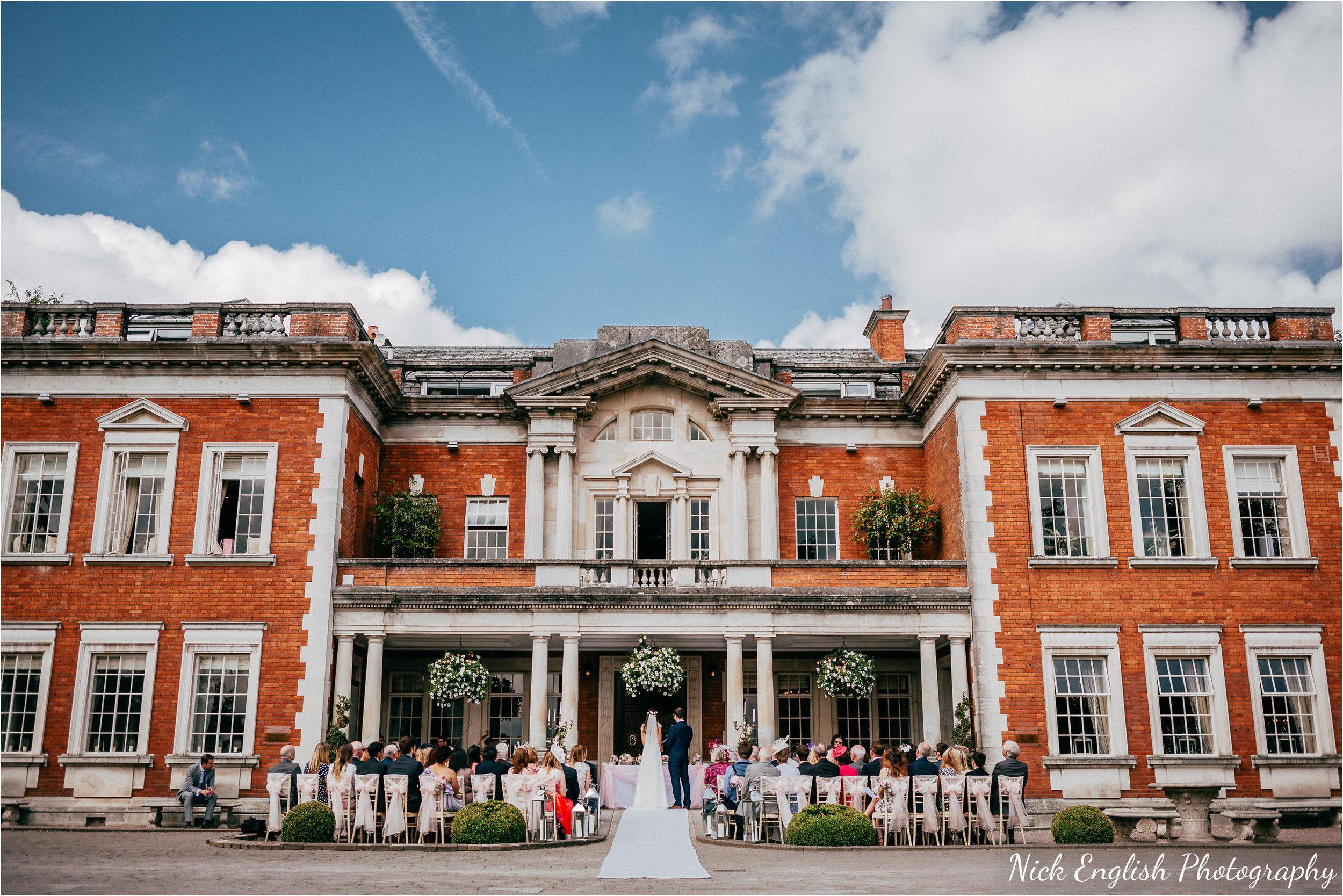Eaves Hall Outdoor Wedding
