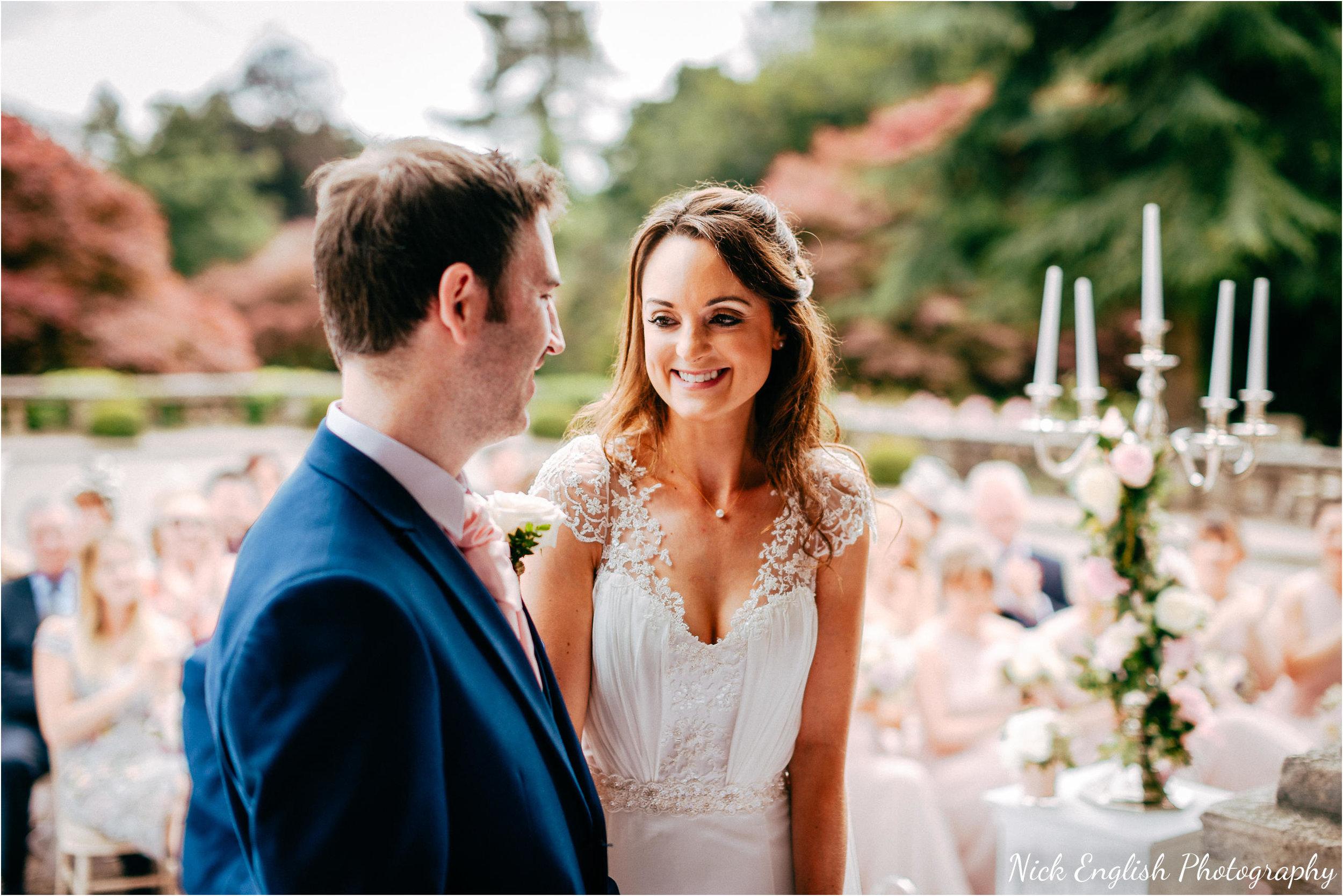 Eaves Hall Outdoor Wedding Bride