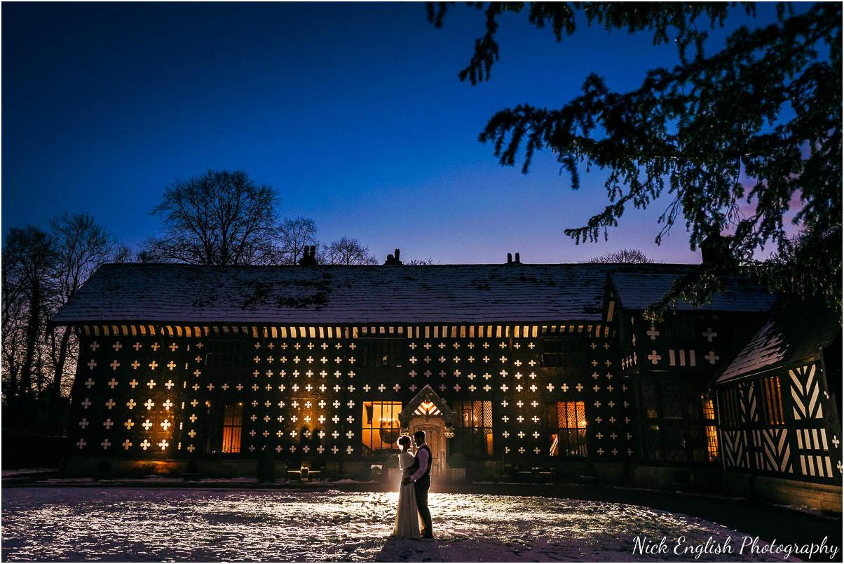 Samlesbury Hall Winter Wedding Photograph