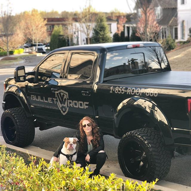 Me and my little buddy 😎🐶💗 #truelove  The new @bullet.roof #mascot 🙋♀️