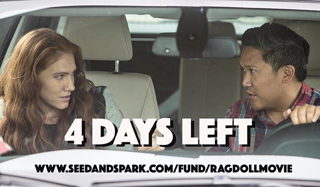 """Happy Monday! We only have FOUR DAYS left of our seed and spark campaign. We have reached 44% of our goal. We will get the """"green light"""" if we reach 80% of our goal and 500 followers. That means only 36% more to go and 85 more followers! Please help us out and join our team by following our campaign and contribute if you can. 💗🙏🏻🙋♀️ lets make it happen!! #independentfilm #bjj #mma #muaythai #100daysofoptimism"""