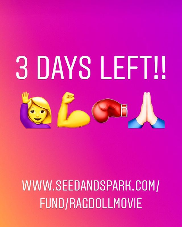 It's coming down to the last few days!! Please visit our seed and spark, check out our amazing trailer that @left_down_south made for us and sign up for our team and receive some awesome perks. Help us meet our goal and be apart of something really cool! 🙋♀️🙏🏻💪 #independentfilm #womeninfilm #strongwomen #indiefilm #indiefilmmaking #diversity #bjj #mma #muaythai