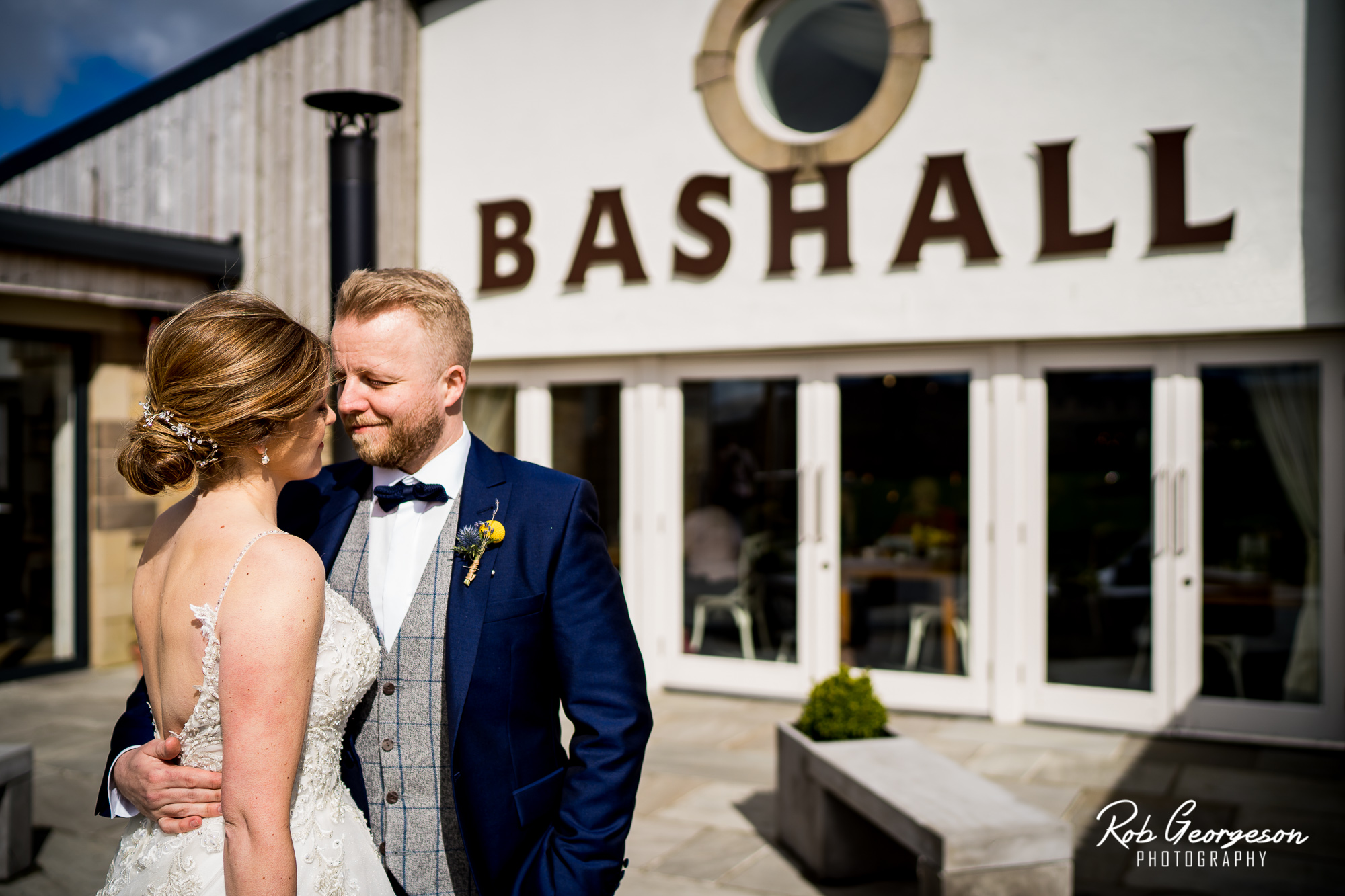 Bride and Groom married at Bashall Barn Wedding Venue