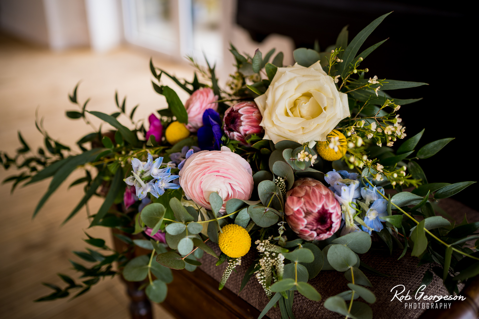 beautiful bouquet of flowers for a bashall barn wedding