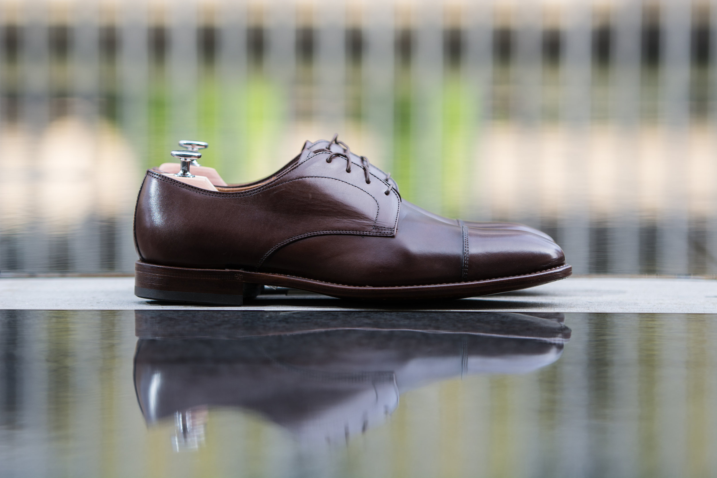 Signature Dark Brown Captoe Derby