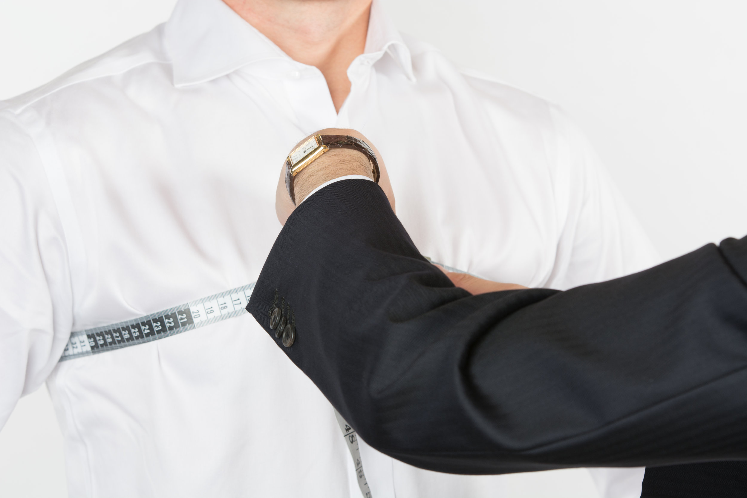 Custom shirt fittings are also available to compliment your new suit