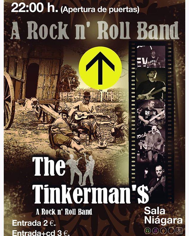 Viernes 10, concierto @the_tinkermans  Puertas 22:00 Concierto 22:30 Entrada 2€ / 3€+ cd