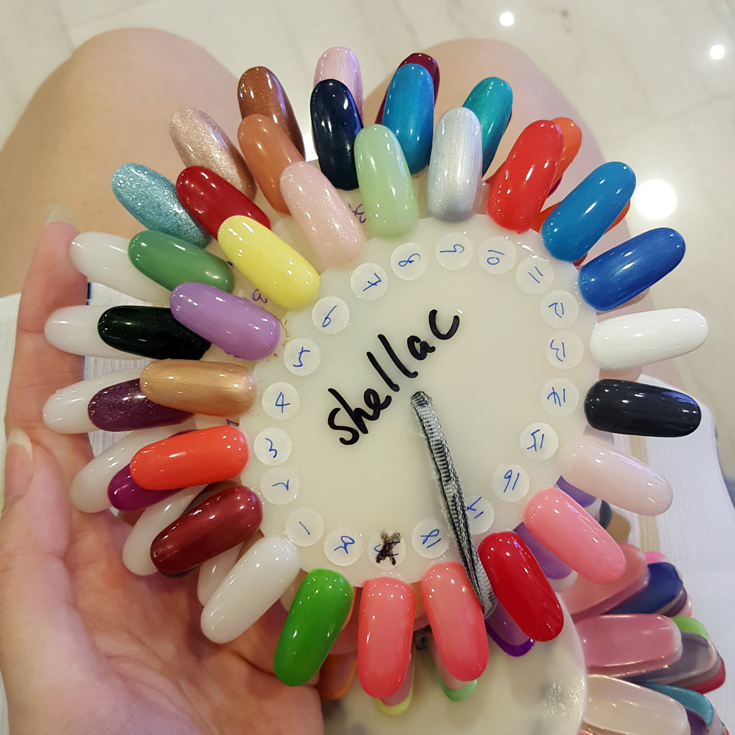 M Spa carries an array of colours of Shellac nail polish